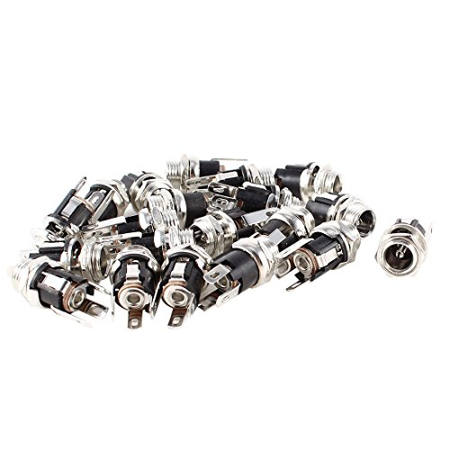 uxcell® 20 Pcs DC 5.5mmx2.1mm Power Jack Socket Female Panel Mount Connector