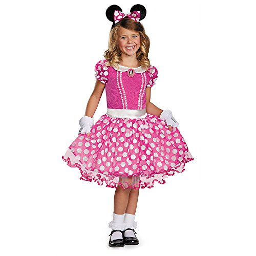 Disguise Disney's Mickey Mouse Clubhouse Pink Minnie Tutu Prestige Girls Costume, Small/4-6x