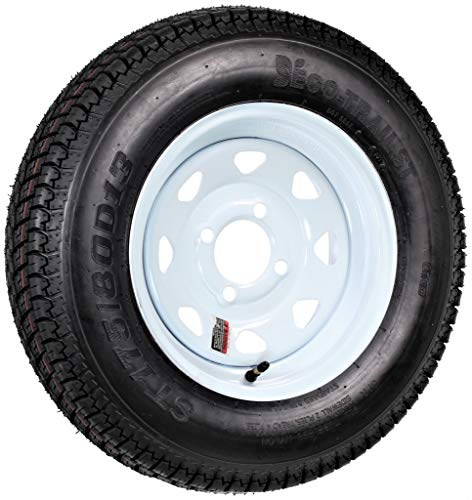 - 4-Hole High Speed Spoked Rim Design Trailer Tire Assembly - ST175/80D-13 tire, Model# DM175D3C-4C-T