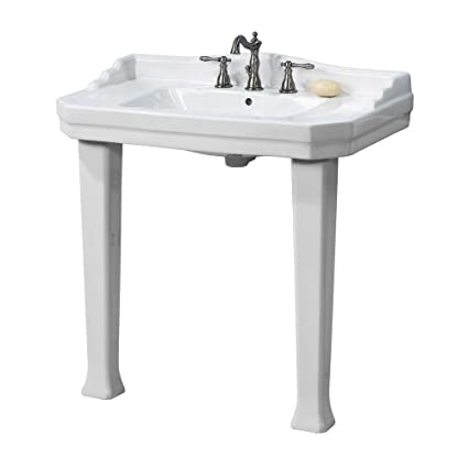 Pegasus FL 1900 8W Console 8 Inch Centerset Lavatory Sink Combo, White