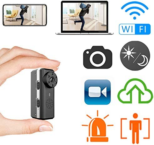 Smallest WiFi Hidden Spy Camera,ZTour Indoor HD IP Wireless Smart Home Security Nanny Camera with Motion Detection,Night Vision,2-Way Audio,Cloud,Live Monitoring for iOS Andorid Mobile Phone,Window PC