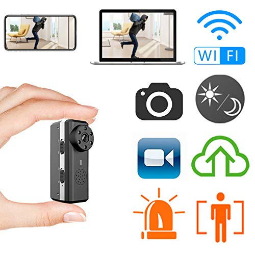 Smallest WiFi Camera,ZTour Indoor HD IP Wireless Smart Home Security Nanny Camera with Motion Detection,Night Vision,2-Way Audio,Cloud Storage,Live Monitoring for iOS/Andorid Mobile Phone,Window PC