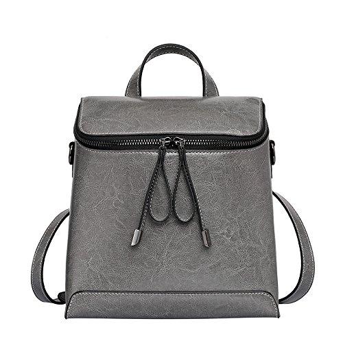 Bolsa Mochila GUANGMING77 gray Bolsa Dama Gris De Bolsa Cera PUAAx5qwC