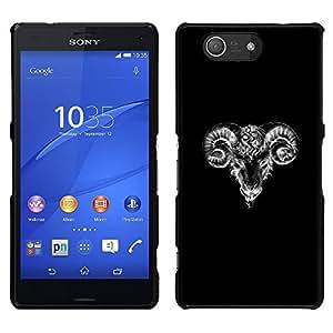 [Neutron-Star] Snap-on Series Teléfono Carcasa Funda Case Caso para Sony Xperia Z4v / Sony Xperia Z4 / E6508 [Goat Black White Minimalist Art Sketch]