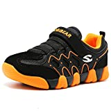 HOBIBEAR Children Outdoor Strap Athletic Sneakers Running Shoes Orange/Black