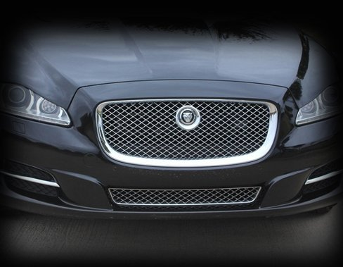 All Chrome Upper Mesh Grille Assembly Replacement for Jaguar XJ XJR R 2010-2015 models