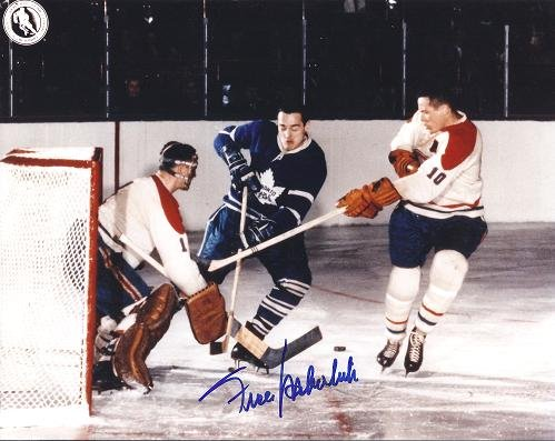 Frank Mahovich Signed - Autographed Toronto Maple Leafs 8x10 inch Photo - Hall of Famer from Real Deal Memorabilia