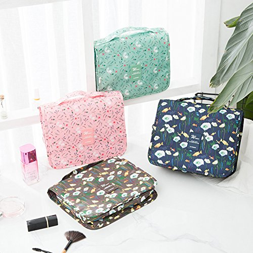 angel3292 Clearance Deals Fish Rabbit Print Travel Toiletry Makeup Organizer Cosmetic Tote Storage Bag by angel3292 (Image #2)