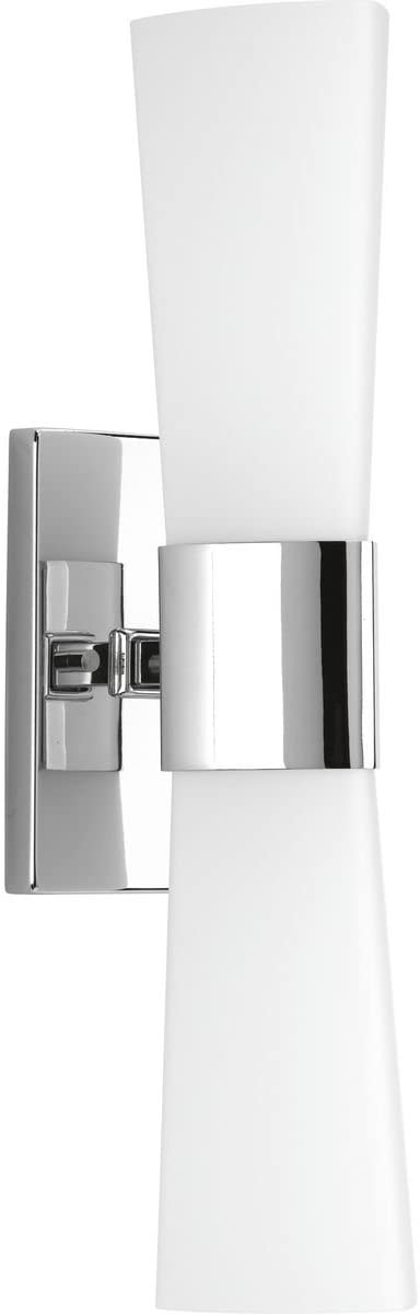 Progress Lighting P300062-015 Zura Polished Chrome Two-Light Bath Vanity,