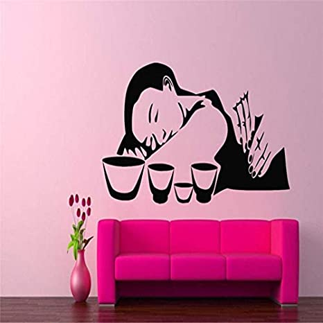 Pegatinas de pared Masaje tailandés Tatuajes de pared Chica Salón ...