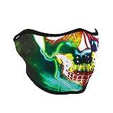 Zanheadgear WNFM098H Neon Skull Adult/Unisex Half Mask, Neoprene
