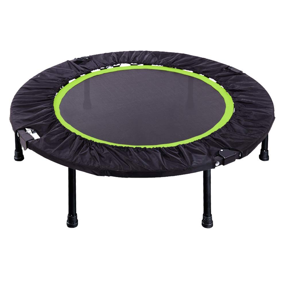 Foldable Trampoline, 40-Inch Fitness rebounder, Strong Steel Spring Enhanced Flexibility and Endurance, Safe and Reliable for Adults and Kids Exercise, Green