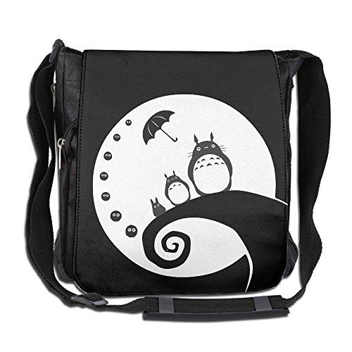 Amurder Custom Nightmare Animate Totoro Cross Body Bag Pack Messenger Bags Black