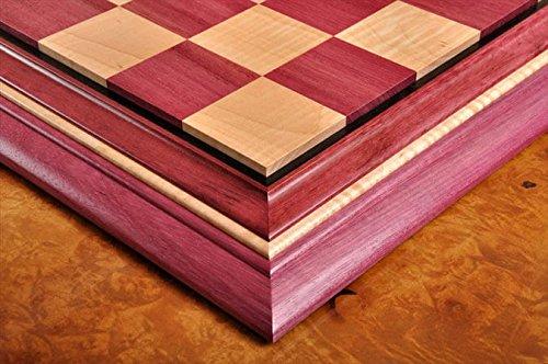 ふるさと納税 Signature Contemporary II Chess Board - II Purpleheart/ Curly Purpleheart of Maple - 2.5