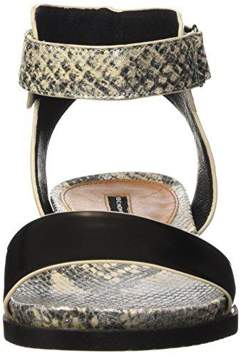 Belmondo 703347 02 - Sandalias Mujer Plateado - Silber (peltro combi)