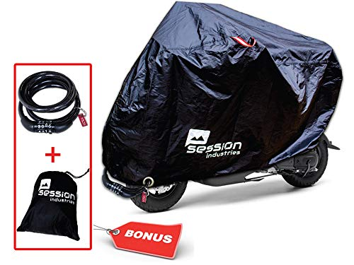 Motorcycle Cover For Moped Scooter Waterproof Outdoor Bike Storage With Bonus Lock Light Weight Tarp Material UV Rain Dust Protection Dirt Bike 50cc Accessories