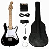 Berry Toys 32' Electric Guitar Set with 5W Amplifier, Guitar Bag, Cable, Strap, Picks, Black
