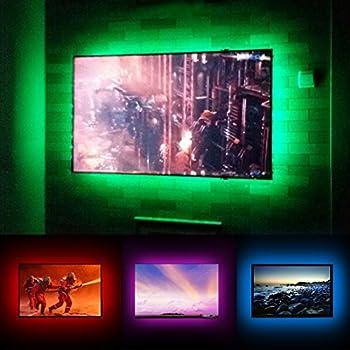 Bias Lighting USB Powered TV Backlight LED Lights Kit For 48 50 55 inch Smart TV  sc 1 st  Amazon.com & Amazon.com: TV Lights Behind 50 55 Inch Television LED Bias ... azcodes.com