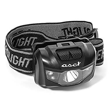 LED Headlamp - Incredibly Bright! - Flashlight for Camping, Running, Hiking, Biking, Fishing and Hunting. Lightweight, Durable and Water Resistant. 3 AAA Batteries Included. 1 Yr. Hassle Free Warranty