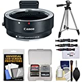 Canon EF-EOS M Mount Adapter (EF Lens to EF-M EOS Camera) Lenspens + Tripod + Kit