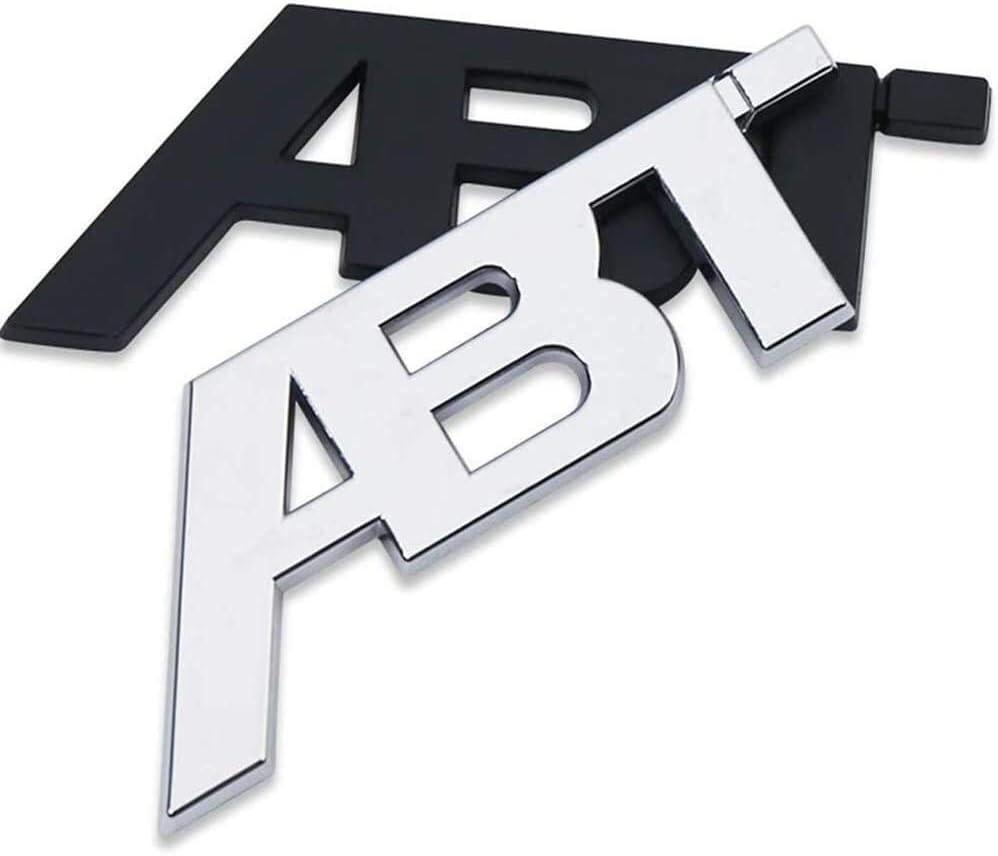 ZXL Logotipo de Coche y de Identidad para Usado para Reemplazo de la Insignia del Emblema del Coche del Cromo 3D ABT Coche de la Etiqueta engomada for A-UDI Alfabeto de la Etiqueta