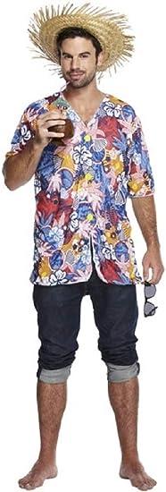 Adulto Hombres Hula Hawaiano Luau Brillante Disfraz Camisa: Amazon.es: Juguetes y juegos