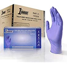 1st Choice Safety Light Indigo Nitrile 3.5 Mil Thick Disposable Gloves, Medium, Case of 1000 - Exam/Medical, Latex-Free, Value Series
