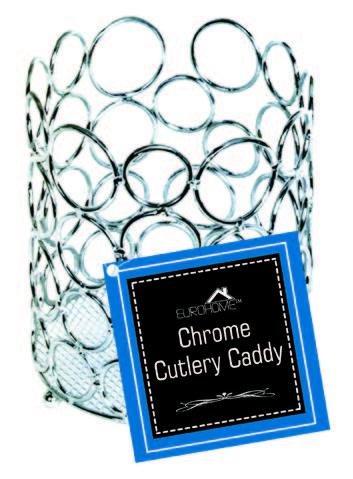 Euro-Home SS-DK-EW502 Gorgeous Chrome Cutlery Caddy Multicolor