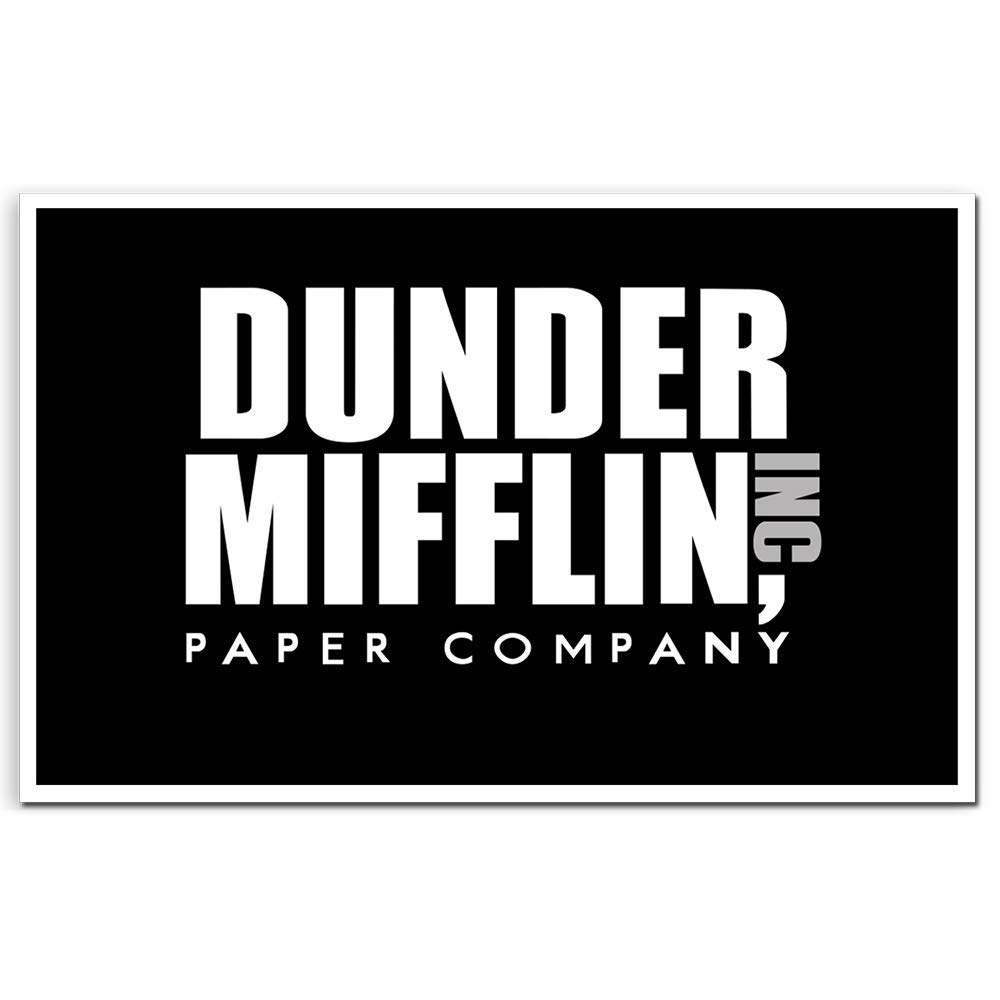 The office stickers dunder mifflin paper company logo for hydro flask laptop water bottle phone pc computer macbook guitar bike notebook car motorcycle