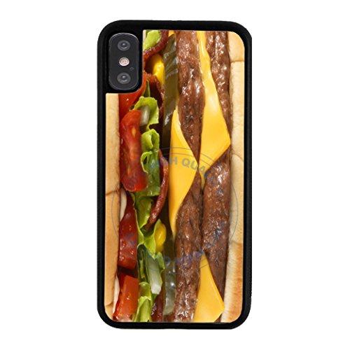 BleuReign Cheeseburger Rubber Phone Case for Apple iPhone X Xs Ten (Case Cheese Phone)