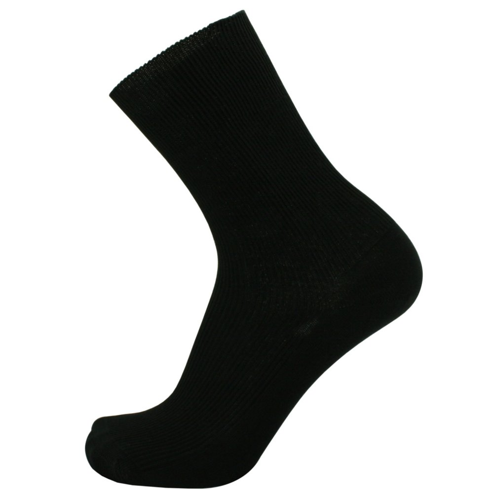 SOK 100% Cotton Socks Men's Black 3-pack Thin - shoe size 8-8.5
