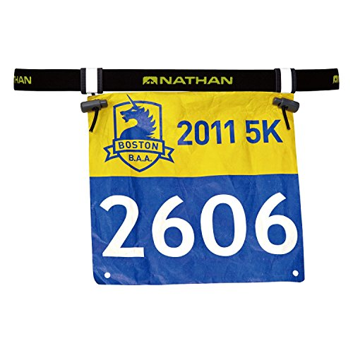 Nathan Race Number Belt, Black, One Size (Best Race Wheels For Triathlon)