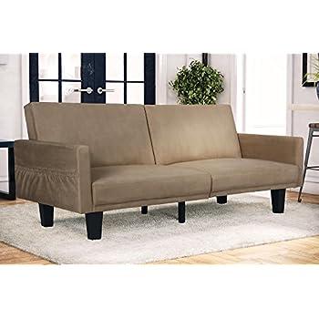 Amazon Com Dhp Jasper Linen Upholstered Coil Futon Multi