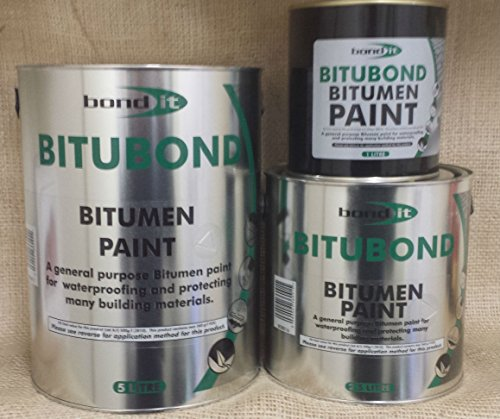 5LTR Bitubond Black Bitumen Paint - roof repair