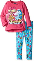 Disney Little Girls' Toddler Finding Dory Legging Set with Fleece Top, Pink, 3T