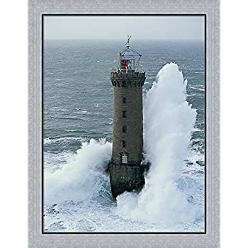 Amazon Com Phares Dans La Tempete Lighthouse Framed