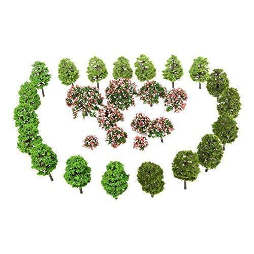70pcs 3-9cm Model Trees HO Scale Layout, Model Train Scenery Architecture, Railroad ArchitectureModel Train Scenery Architecture, Railroad Architect Diorama Tree for DIY Scenery Landscape, Mixed Color