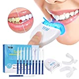 Teeth Whitening Kit with Whitening Accelerator Light Y.F.M Whitening Gel Quickly Remove Surface And Deep Stains No harm Professional Dental Whitener Best Home HISMILE System Enhance Your Smile Now