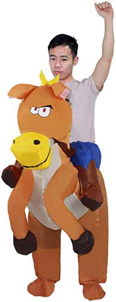 Disfraz de Animal Inflable de Halloween para Adultos y niños, Caballo Adulto.