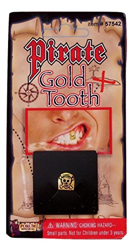 Forum Novelties Pirate Gold Tooth with Skull + 30% discount (Standard)