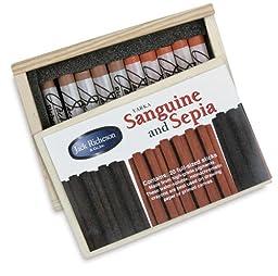 Yarka Sanguine and Sepia Drawing Crayons - Drawing Crayons, Set of 20