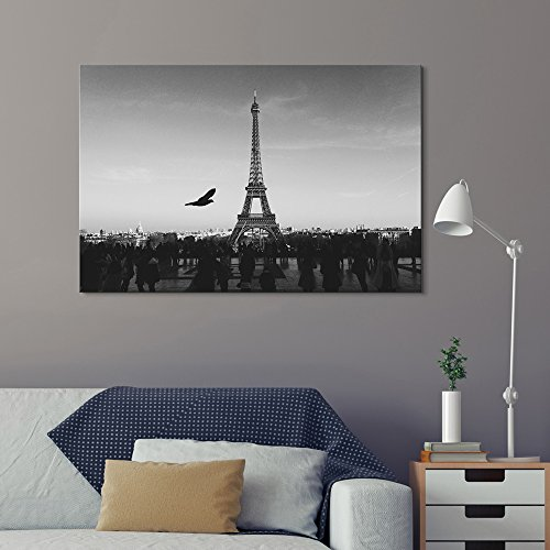 Eiffel Tower in Paris in Black and White