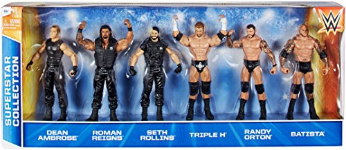 WWE Wrestling Exclusives Superstar Collection Action Figure 6-Pack [Set #4] (Superstars Wwe Wrestling)