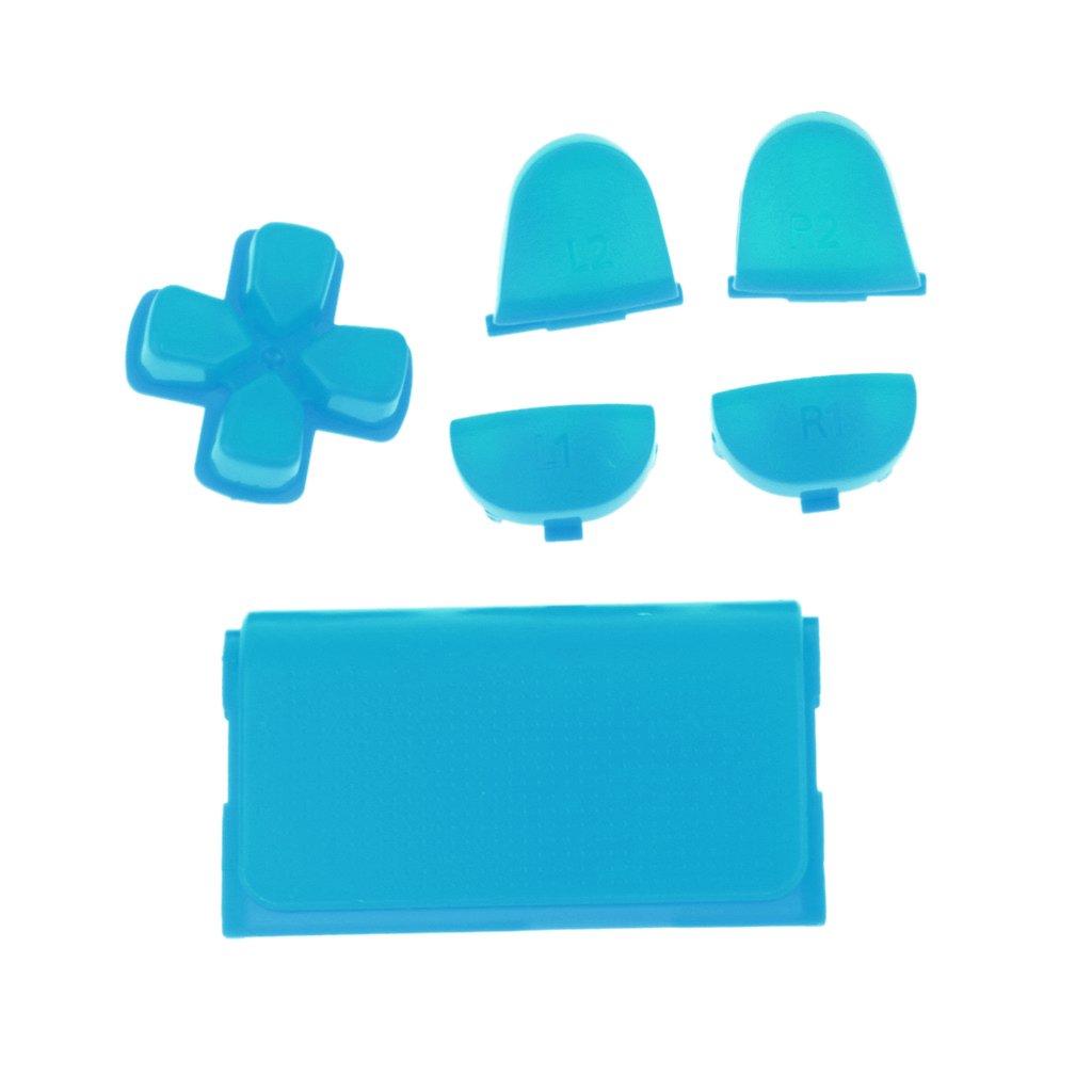 non-brand Gazechimp R2 L2 L1 R1 Bot/ón Grip ABXY Mod Kit de Sistema de Mando para Sony PS4 Control Inal/ámbrico Azul Claro