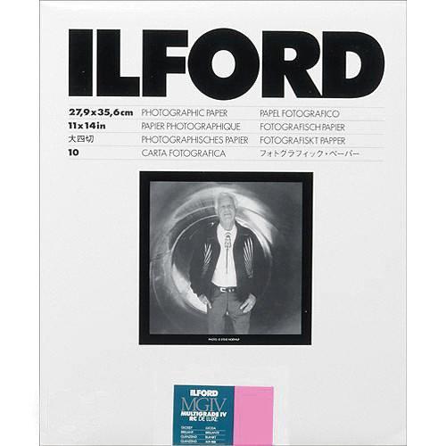 Ilford Multigrade IV RC VCコントラスト、ブラックとホワイト11 x 14紙、10シート   B005374JMA