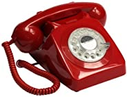 GPO GPO746RRD 746 Desk Phone Rotary Dial Red