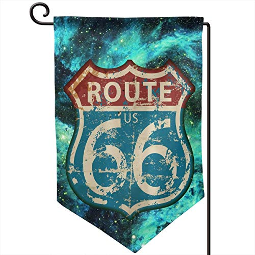 Private Bath Customiz America Highway Travel Lifestyle Route 66 Garden Flag Vertical Double Sided 12.5 X 18 Inch Spring Summer Welcome Yard Decor Double Sided