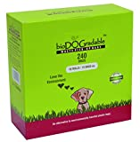 bioDOGradable Dog Waste Bags for dog poop Certified Compostable and Earth Friendly Not a plastic bag (240Bags)