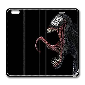 iPhone 6 Flip Case, Venom Typography iPhone 6 4.7inch Full Body Protector Leather Flip Case Cover, Original Made by PhilipHayes