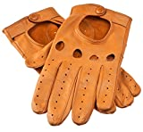 Lundorf Leonardo Men's Soft Leather Driving Gloves - Light Cork - 11